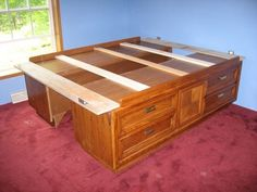 How To Build A Dresser Bed