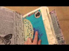 Flip through of my first junk journal. Part 1 of 2 Binding: I followed the tutorial Crafty Loops 'Bookbinding Tutorial - 4 Hole Pamphlet Stitch' but I did st...