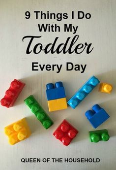 I have found that if I don't have something for my toddler to do, he will find something that he is NOT suppose to do! Read these 9 activities that I do every day with my toddler. #ParentingDay