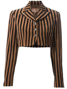Romeo Gigli - Vintage Cropped Striped Bolero Jacket