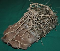 Example of 5,000 year old grass/raffia, fur, and hide sock/shoe. Ancient Craft - Projects & Articles