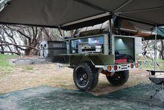 The Award Winning Patriot Camper Off Road Camper Trailer - Patriot Campers. Car Camping In Bear Country Bug Out Trailer, Trailer Tent, Off Road Camper Trailer, Small Trailer, Trailer Plans, Trailer Build, Camper Trailers, Tent Campers, Expedition Trailer