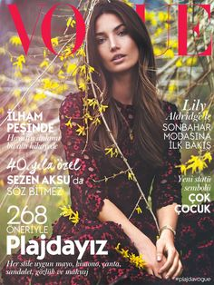 Lily Aldridge by David Bellemere for Vogue Turkey July 2015 Coverstory