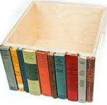 Geniale Verkleidung von Kartons oder Schubladen und gleichzeitig Recycling alter Bücher