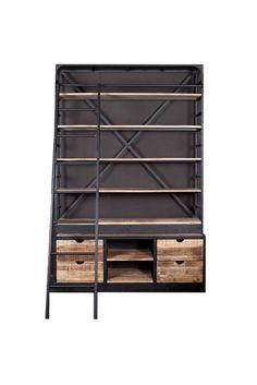 Industriele boekenkast groot | Kasten | Giga meubel industrieel