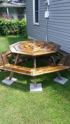 Octagon Picnic Table | Do It Yourself Home Projects from Ana White