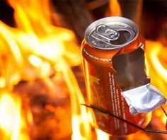 Beer/Soda Can Popcorn | 25 Badass Camping Hacks For Your Next Trip by Survival Life