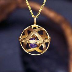Genesa Crystal Gold With Crystal with Amethyst