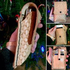 Updates from KellysLeatherDesign on Etsy Handmade Gifts, Handmade Items, Kelly S, Twelve Days Of Christmas, Leather Pouch, Leather Design, Card Case, Espadrilles, Stamp
