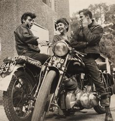 Teenagers with Motorbikes, c. 1963