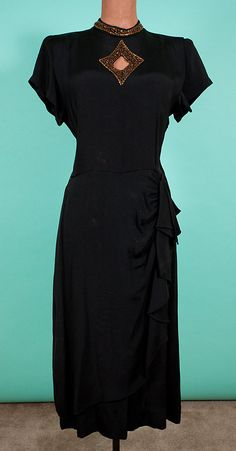 1940's Film Noir style dress