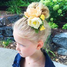 Peach Felt Flower Hair Clip Felt Flower Crown Photo Prop
