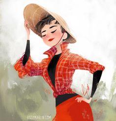 Audrey Hepburn Week by Lissy Marlin- Red