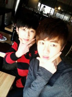 Jin and Kidoh/ Seokjin and Hyosang Jimin Jungkook, Bts Jin, Bts Bangtan Boy, Taehyung, Foto Bts, Bts Photo, Bts Predebut, Bts Twice, 2ne1