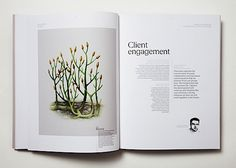 The Missing Link, an annual report published by New Frontier Group | via Abduzeedo