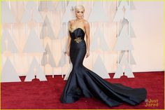 Rita Ora rocks a regal dress at the 2015 Academy Awards held at the Dolby Theatre on Sunday (February 22) in Hollywood.