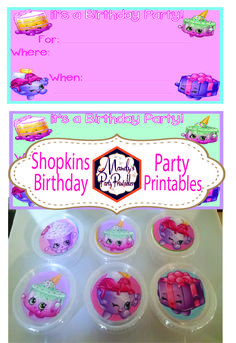 Get these FREE printables for a Shopkins Birthday Party at Mandy's Party Printables!