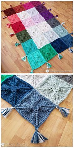 Transcendent Crochet a Solid Granny Square Ideas. Inconceivable Crochet a Solid Granny Square Ideas. Granny Square Crochet Pattern, Crochet Stitches Patterns, Tunisian Crochet, Crochet Squares, Knit Or Crochet, Crochet Designs, Crochet Hooks, Free Crochet, Granny Squares