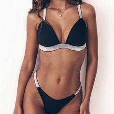 7a677b707e Sexy Women's Bikini Padded Push-Up Bra Bandage Triangle Swimsuit Swimwear  Bathing Swimming Suit Beachwear Bikinis 2019 Mujer