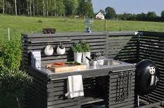 If you are looking for Simple Outdoor Kitchen, You come to the right place. Here are the Simple Outdoor Kitchen. This post about Simple Outdoor Kitchen was posted u. Simple Outdoor Kitchen, Outdoor Kitchen Sink, Rustic Outdoor Kitchens, Outdoor Sinks, Outdoor Kitchen Countertops, Backyard Kitchen, Summer Kitchen, Outdoor Kitchen Design, Kitchen Island