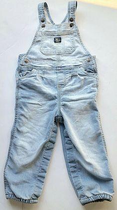 NWT OSH KOSH Toddler Boy/'s Bib Overalls Dark Khaki Size 6 Mo to 2T