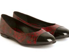 SALE - 40% off - Leather handmade shoes - Cocó Boa pattern red