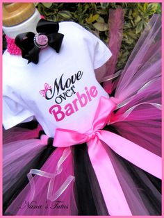 Move Over Barbie  Party Outfit Barbie Party Tutu by Nanastutus, $55.00.