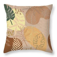 """Our throw pillows are made from 100% spun polyester poplin fabric and add a stylish statement to any room. Pillows are available in sizes from 14"""" x 14"""" up to 26"""" x 26"""". Each pillow is printed on both sides (same image) and includes a concealed zipper and removable insert (if selected) for easy cleaning. Watercolor Pattern, Hand Designs, Surface Pattern Design, New Room, Poplin Fabric, Terracotta, Room Decor, Ink, Throw Pillows"""