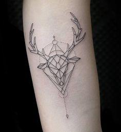 Rain deer tattoo