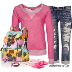 """""""Victoria's Secret Backpack"""" by fluffof5 on Polyvore"""