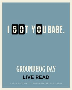 LACMA Groundhog Day poster.
