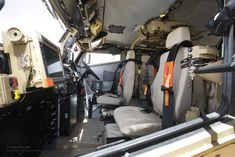 https://flic.kr/p/dcvgzB   Interior of Foxhound Light Protected Patrol Vehicle in Afghanistan   The interior of a Foxhound Light Protected Patrol Vehicle. Foxhound is at the cutting edge of protected patrol vehicle technology, providing unprecedented levels of blast protection for its size and weight. Featuring blast survivability close to that of a Mastiff - and just a little bigger than the Snatch Land Rover it replaces – the Foxhound is ideally suited for manoeuvring around the narrow…