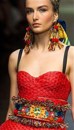 Dolce & Gabbana red bohemian dress #UNIQUE_WOMENS_FASHION