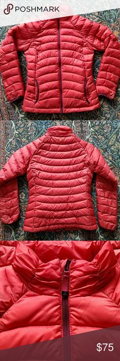 Prana Lyra Jacket Slightly worn no stains or rips. Looks more orange than photographed. Like a red orange. Prana Jackets & Coats Puffers