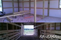 Horse stalls and tack room.