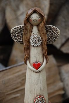 Angel of ceramic pottery