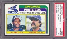 1982 Topps #216 White Sox Batting & Pitching Leaders PSA 10 pop 20 by Topps. $12.25. 1982 Topps #216 White Sox Batting & Pitching Leaders PSA 10 pop 20. If multiple items appear in the image, the item you are purchasing is the one described in the title.