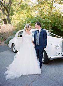 The Rolls Royce classic wedding car