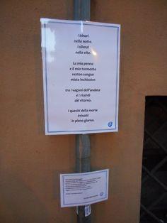Via Nazario Sauro e la sua fermata poetica.  Bologna.