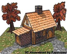 Created by North American designer Emily, aka Froggy Dreams, this Hand Drawn Medieval House Paper Model is perfect for Dioramas, RPG and Wargames.