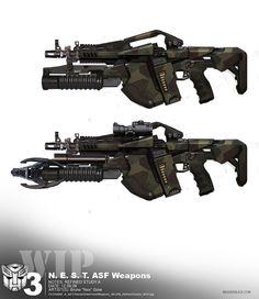 N.E.S.T. ASF Weapons by massiveblack