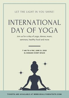 Ivory And Sage International Day Of Yoga Poster
