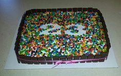 M&M and Hershey bar cake. Happy 23rd @Kara Smith