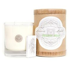 french pear candle from Linnea Lights