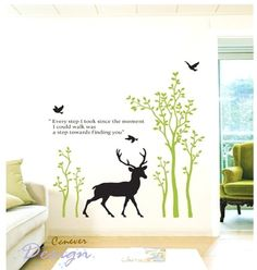 cute deer play in the forest tree birdsRemovable by ccnever. http://www.etsy.com/listing/70269569/cute-deer-play-in-the-forest-tree-birds?ref=sr_gallery_29_search_query=mobile+baby+bird_view_type=gallery_ship_to=ZZ_min=0_max=0_includes[0]=tags_exact_search_type=all_page=10