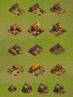 Buildings & environment for strategy game on Behance Age Of Empires, Buildings Artwork, Isometric Map, Fantasy World Map, Architecture Background, Medieval, Pixel Design, Minecraft Designs, Game Concept