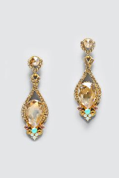 Crystal Daphne Earrings in Champagne | Women's Clothes, Casual Dresses, Fashion Earrings & Accessories | Emma Stine Limited