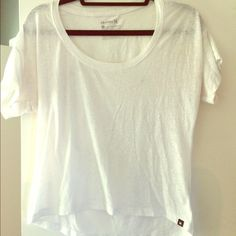 Hurley sheer top Used condition he no marks or tears, some pulling the but very soft and cute with a colorful bandeau Hurley Tops Tees - Short Sleeve