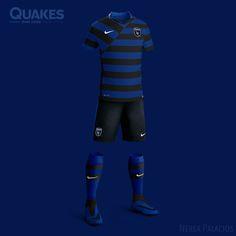 Nike MLS Concept Kits by Nerea Palacios | San Jose Earthquakes