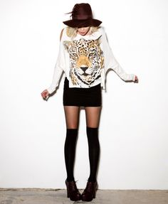 Boxy Tiger Cutout Top #capsule2point1 #webexclusive